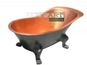 kerajinan bathtub tembaga kaki macan