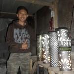 kerajinan lampu dinding tembaga