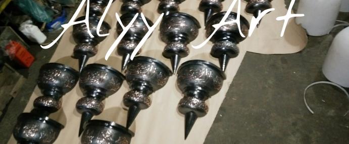 Kerajinan Lampu Dinding Kaligrafi