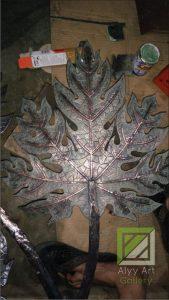 kerajinan lampu daun