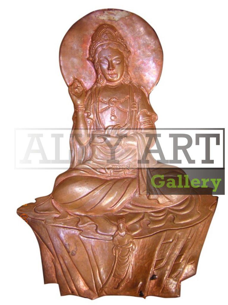 relief tembaga dan kuningan